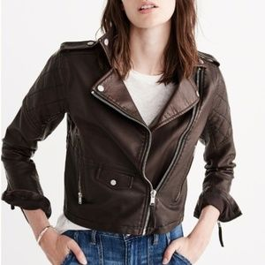 NWT Abercrombie & Fitch Women Brown Jacket - SMALL